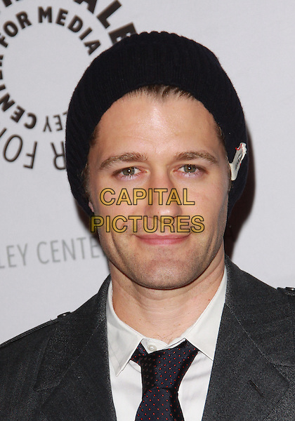 "MATTHEW MORRISON.27th Annual Paley Fest  presents  ""Glee""  held at the Saban Theatre, Beverly Hills, California, USA..March 13th, 2010.headshot portrait white beanie grey gray  black .CAP/ADM/TC.©T. Conrad/AdMedia/Capital Pictures."