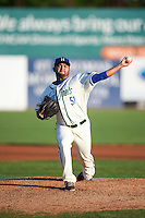 Hartford Yard Goats starting pitcher Carlos Hernandez (51) during the second game of a doubleheader against the Trenton Thunder on June 1, 2016 at Sen. Thomas J. Dodd Memorial Stadium in Norwich, Connecticut.  Trenton defeated Hartford 2-1.  (Mike Janes/Four Seam Images)