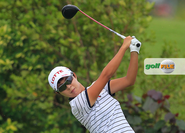 Hyo Joo Kim (KOR) on the 6th tee during Round 2 of the HSBC Women's Champions on Friday 3rd March 2017.<br /> Picture:  Thos Caffrey / Golffile