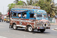 Senegal, Saint Louis.  Local Bus Transport, usually called an Ndiaga Ndiaye.
