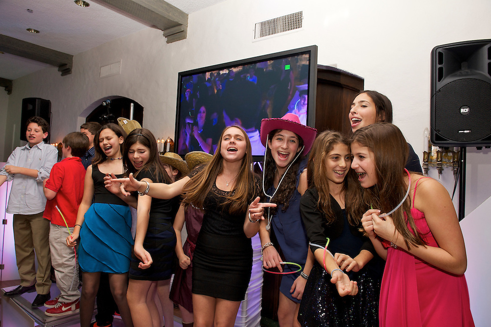 Kids dancing at a Bar Mitzvah at Mountain Ridge Country Club, West Caldwell, NJ