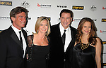 HOLLYWOOD, CA - January 22: John Easterling, Olivia Newton-John, John Travolta and Kelly Preston arrive at the G'Day USA Australia Week 2011 Black Tie Gala at the Hollywood Palladium on January 22, 2011 in Hollywood, California.