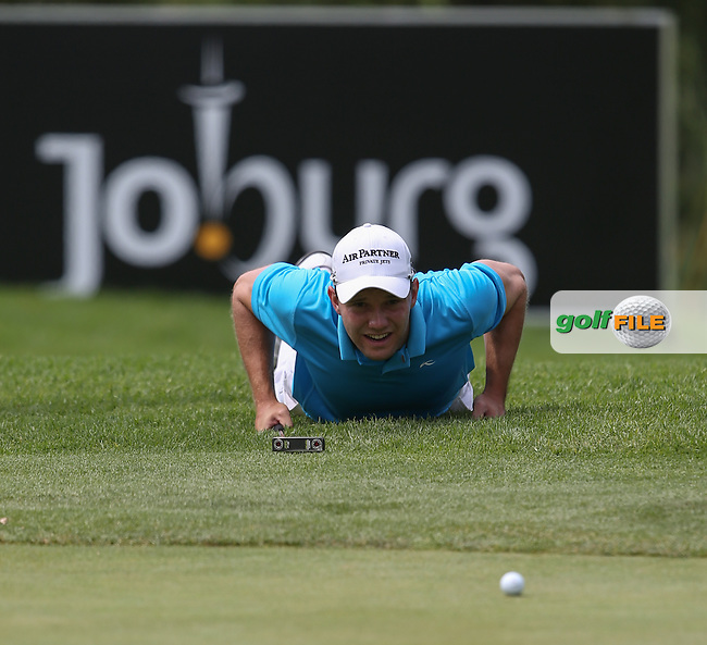 Maximilian  Kieffer (GER) in putting action on the 14th on the West Course during Round Two of the Joburg Open 2015 at the Royal Johannesburg & Kensington Golf Club, Johannesburg, Gauteng, South Africa. Picture:  David Lloyd / www.golffile.ie. 27/02/2015
