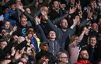 Blackburn Rovers fans celebrate their team scoring the only goal of the match<br /> <br /> Photographer Stephen White/CameraSport<br /> <br /> The EFL Sky Bet Championship - Nottingham Forest v Blackburn Rovers - Friday 14th April 2016 - The City Ground - Nottingham<br /> <br /> World Copyright &copy; 2017 CameraSport. All rights reserved. 43 Linden Ave. Countesthorpe. Leicester. England. LE8 5PG - Tel: +44 (0) 116 277 4147 - admin@camerasport.com - www.camerasport.com