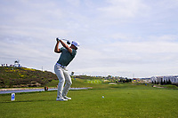 Thorbjorn Olesen (DEN) on the 1st tee during Round 4 of the Open de Espana 2018 at Centro Nacional de Golf on Sunday 15th April 2018.<br /> Picture:  Thos Caffrey / www.golffile.ie<br /> <br /> All photo usage must carry mandatory copyright credit (&copy; Golffile | Thos Caffrey)