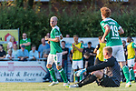04.09.2018, Hoheellern-Stadion, Leer, GER, FSP, Werder Bremen (GER) vs FC Emmen (NED)<br /> <br /> DFL REGULATIONS PROHIBIT ANY USE OF PHOTOGRAPHS AS IMAGE SEQUENCES AND/OR QUASI-VIDEO.<br /> <br /> im Bild / picture shows<br /> Davy Klaassen (Werder Bremen #30) bejubelt seinen Treffer zum 1:1, <br /> <br /> Foto © nordphoto / Ewert