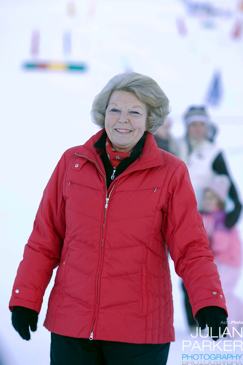 Queen Beatrix of Holland and other Members of The Dutch Royal Family attend a Photocall during their Winter Ski Holiday in Lech Austria