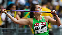 08 JUL 2011 - PARIS, FRA - Goldie Sayers prepares for her next throw in the women's javelin at the Meeting Areva round of the Samsung Diamond League (PHOTO (C) NIGEL FARROW)