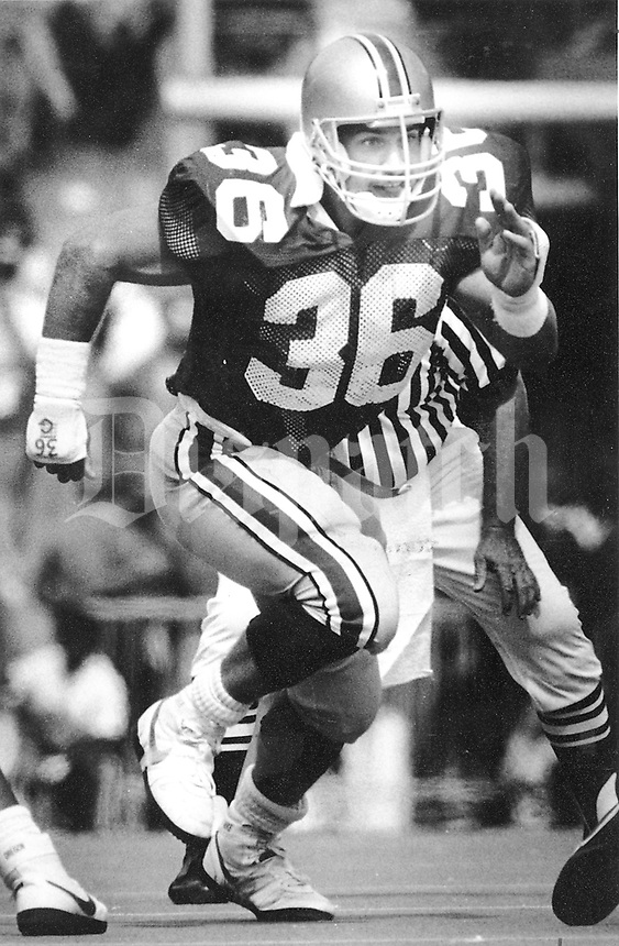 Chris Spielman - OSU football player - 1987 (Dispatch photo)