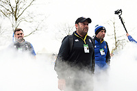 Darren Edwards and the rest of Bath Rugby arrive at Twickenham. Gallagher Premiership match, The Clash, between Bath Rugby and Bristol Rugby on April 6, 2019 at Twickenham Stadium in London, England. Photo by: Patrick Khachfe / Onside Images