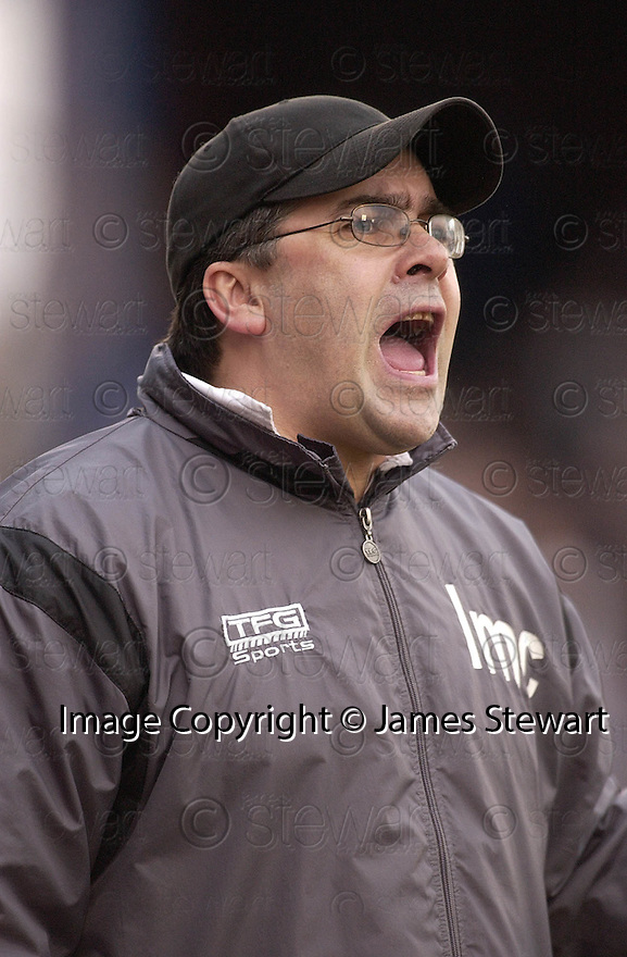 05/02/2005  Copyright Pic : James Stewart.File Name : jspa06_qots_v_dundee_utd.DUNDEE UTD MANAGER IAN MCCALL DURING THE SCOTTISH CUP 4TH ROUND CLASH AGAINST QUEEN OF THE SOUTH...Payments to :.James Stewart Photo Agency 19 Carronlea Drive, Falkirk. FK2 8DN      Vat Reg No. 607 6932 25.Office     : +44 (0)1324 570906     .Mobile   : +44 (0)7721 416997.Fax         : +44 (0)1324 570906.E-mail  :  jim@jspa.co.uk.If you require further information then contact Jim Stewart on any of the numbers above.........A