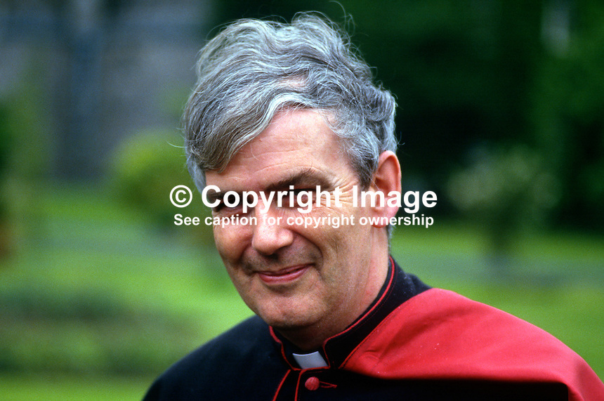Most Rev Dermot O'Mahony, Roman Catholic, Auxiliary Bishop of Dublin, Ireland, 19870611DOM..Copyright Image from Victor Patterson, 54 Dorchester Park, Belfast, UK, BT9 6RJ..Tel: +44 28 9066 1296.Mob: +44 7802 353836.Voicemail +44 20 8816 7153.Skype: victorpattersonbelfast.Email: victorpatterson@me.com.Email: victorpatterson@ireland.com (back-up)..IMPORTANT: If you wish to use this image or any other of my images please go to www.victorpatterson.com and click on the Terms & Conditions. Then contact me by email or phone with the reference number(s) of the image(s) concerned.