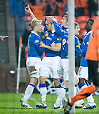 :: RANGERS' STEVEN WHITTAKER CELEBRATES AFTER HE SCORES RANGERS' PENALTY :: .19/04/2011   Copyright  Pic : James Stewart.sct_jsp006_dundee_utd_v_rangers .James Stewart Photography 19 Carronlea Drive, Falkirk. FK2 8DN      Vat Reg No. 607 6932 25.Telephone      : +44 (0)1324 570291 .Mobile              : +44 (0)7721 416997.E-mail  :  jim@jspa.co.uk.If you require further information then contact Jim Stewart on any of the numbers above.........