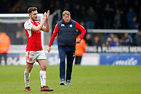 Lewis Coyle of Fleetwood Town claps the fans during the Sky Bet League 1 match between Peterborough and Fleetwood Town at London Road, Peterborough, England on 28 April 2018. Photo by Carlton Myrie.