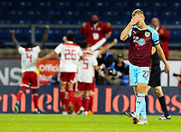 Burnley's Matej Vydra reacts after Olympiakos opened the scoring<br /> <br /> Photographer Alex Dodd/CameraSport<br /> <br /> UEFA Europa League - UEFA Europa League Qualifying Second Leg 2 - Burnley v Olympiakos - Thursday August 30th 2018 - Turf Moor - Burnley<br />  <br /> World Copyright © 2018 CameraSport. All rights reserved. 43 Linden Ave. Countesthorpe. Leicester. England. LE8 5PG - Tel: +44 (0) 116 277 4147 - admin@camerasport.com - www.camerasport.com