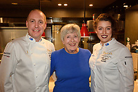 Melbourne, June 26, 2018 - MIchael Cole, Rita Erlich and Laura Skvor at a celebration event for Bocuse d'Or Australia team and their sponsors and supporters at Philippe Restaurant in Melbourne, Australia. Photo Sydney Low.