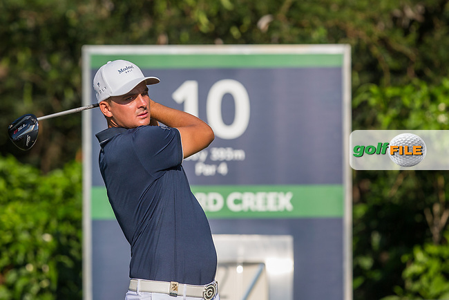Christiaan Bezuidenhout (RSA) during the 1st round of the Alfred Dunhill Championship, Leopard Creek Golf Club, Malelane, South Africa. 13/12/2018<br /> Picture: Golffile | Tyrone Winfield<br /> <br /> <br /> All photo usage must carry mandatory copyright credit (&copy; Golffile | Tyrone Winfield)