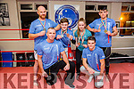 Tralee Martial Arts Members - Medal Winners in the European Championships Kick Boxing which was held in Hungary from the 3rd -7th of November. Pictured l-r Mike Allen, Chief Instructor and Darren Sweeney, Back l-r  Brian Sheehy, silver medal for full contact kickboxing, Dion O'Keeffe, silver and bronze in kickboxing, Leah Corcoran, silver and bronze in light contact and Sean Allen, bronze in K one and gold in kickboxing