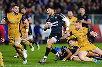 Jeff Williams of Bath Rugby takes on the Bristol Rugby defence. European Rugby Challenge Cup match, between Bath Rugby and Bristol Rugby on October 20, 2016 at the Recreation Ground in Bath, England. Photo by: Patrick Khachfe / Onside Images