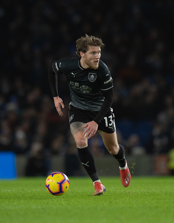Burnley's Jeff Hendrick <br /> <br /> Photographer David Horton/CameraSport<br /> <br /> The Premier League - Brighton and Hove Albion v Burnley - Saturday 9th February 2019 - The Amex Stadium - Brighton<br /> <br /> World Copyright &copy; 2019 CameraSport. All rights reserved. 43 Linden Ave. Countesthorpe. Leicester. England. LE8 5PG - Tel: +44 (0) 116 277 4147 - admin@camerasport.com - www.camerasport.com