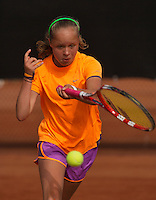10-08-13, Netherlands, Rotterdam,  TV Victoria, Tennis, NJK 2013, National Junior Tennis Championships 2013, Margriet Timmermans wins girls 12 years <br /> <br /> Photo: Henk Koster