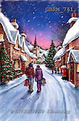 Roger, CHRISTMAS LANDSCAPE, paintings+++++,GBRM741,#XL#