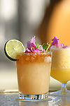 A Mai Tai at Halekulani's House Without a Key ocean front bar with views of Diamond Head and Waikiki Beach.