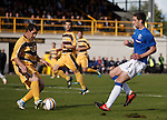 Lee Wallace tries to thread the ball through