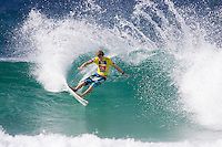 Tour Rookie BEN DUNN (AUS) in Round 1 action at the Quiksilver Pro Gold Coast. The day  was full of upsets after the ASP Foster's Top 45 did battle in the three to four foot (1 to 1.2 metre) surf at Snapper Rocks today, March. 1 2007. Photo: Joli