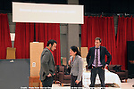 6/5/11 In rehearsal with Tony Award winner and two-time Pulitzer Prize finalist David Henry Hwang (M. Butterfly) of the world premiere of Chinglish, a razor-sharp new comedy about the challenges of doing business in a culture worlds apart from our own.  Directed by Leigh Silverman, Chinglish, performed in a blend of English and Mandarin (with English surtitles), has performances June 18-July 24, 2011, in the Goodman's Albert Theatre. The cast features James Waterston, Stephen Pucci, Jennifer Lim, Larry Zhang, Christine Lin, Angela Lin, Johnny Wu. Photo Credit: © Lia Chang