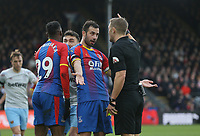 Crystal Palace's Luka Milivojevic appeals to referee Craig Pawson<br /> <br /> Photographer Rob Newell/CameraSport<br /> <br /> The Premier League - Saturday 9th February 2019  - Crystal Palace v West Ham United - Selhurst Park - London<br /> <br /> World Copyright © 2019 CameraSport. All rights reserved. 43 Linden Ave. Countesthorpe. Leicester. England. LE8 5PG - Tel: +44 (0) 116 277 4147 - admin@camerasport.com - www.camerasport.com