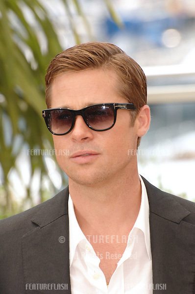 "Brad Pitt at photocall for ""Ocean's Thirteen"" at the 60th Annual International Film Festival de Cannes..May 24, 2007  Cannes, France..© 2007 Paul Smith / Featureflash"