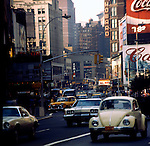 Broadway.Series of images from New York between 1975 -1977. New York,USA.