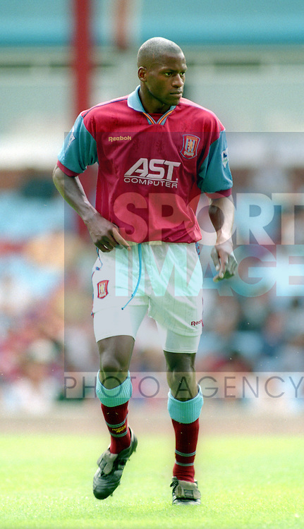 Ugo Ehiogu pf Aston Villa - Pre Season Friendly - Aston Villa v Partizan Belgrade - Villa Park Stadium - Birmingham - England - 12th August 1995 - Picture Simon Bellis/Sportimage