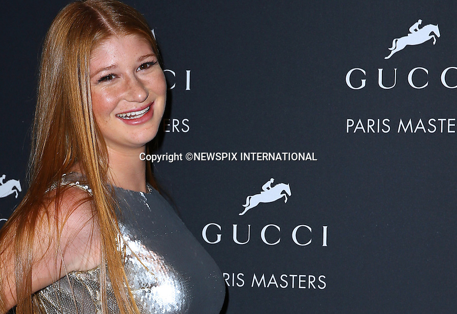4.12.2014; Paris, France: JENNIFER GATES<br /> attends the Gucci Paris Masters reception at Paris Nord Villepinte.<br /> Mandatory Credit Photos: &copy;Huitel-Crystal/NEWSPIX INTERNATIONAL<br /> <br /> **ALL FEES PAYABLE TO: &quot;NEWSPIX INTERNATIONAL&quot;**<br /> <br /> PHOTO CREDIT MANDATORY!!: NEWSPIX INTERNATIONAL(Failure to credit will incur a surcharge of 100% of reproduction fees)<br /> <br /> IMMEDIATE CONFIRMATION OF USAGE REQUIRED:<br /> Newspix International, 31 Chinnery Hill, Bishop's Stortford, ENGLAND CM23 3PS<br /> Tel:+441279 324672  ; Fax: +441279656877<br /> Mobile:  0777568 1153<br /> e-mail: info@newspixinternational.co.uk