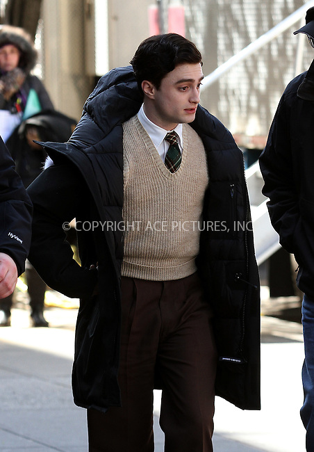 WWW.ACEPIXS.COM . . . . .  ....March 27 2012, New York City....Actor Daniel Radcliffe was on the set of the new movie 'Kill Your Darlings' on March 27 2012 in New York City....Please byline: Zelig Shaul - ACE PICTURES.... *** ***..Ace Pictures, Inc:  ..Philip Vaughan (212) 243-8787 or (646) 769 0430..e-mail: info@acepixs.com..web: http://www.acepixs.com
