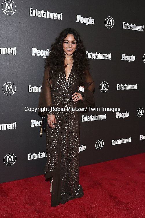 Vanessa Hudgens attends the Entertainment Weekly &amp; PEOPLE Magazine New York Upfronts Celebration on May 16, 2016 at Cedar Lake in New York, New York, USA.<br /> <br /> photo by Robin Platzer/Twin Images<br />  <br /> phone number 212-935-0770