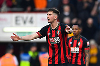 Chris Mepham of AFC Bournemouth appeals to Referee Roger East  after a penalty is given to Wolverhampton Wanderers  during AFC Bournemouth vs Wolverhampton Wanderers, Premier League Football at the Vitality Stadium on 23rd February 2019