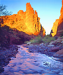 USA, Utah,   A stream near Fisher Towers. Credit as: Christopher Talbot Frank