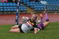 Picture by Paul Currie/SWpix.com - 07/10/2017 - Rugby League - Women's Super League Grand Final - Bradford Bulls v Featherstone Rovers - Regional Arena, Manchester, England - Charlotte Booth of Bradford Bulls scores the 3rd try