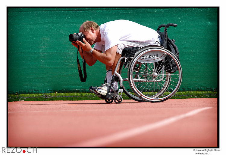 NR02390 / Swiss Open, tournois international de tennis en fauteuil roulant. ..Geneve, Aout 2006...©Nicolas Righetti/Rezo..
