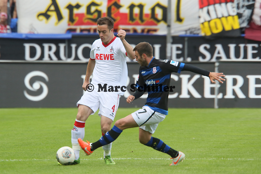 Roman Golobart (Koeln) gegen Marc Andre Kruska (FSV) - FSV Frankfurt vs. 1. FC Koeln, Frankfurter Volksbank Stadion