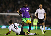 31st October 2017, Craven Cottage, London, England; EFL Championship football, Fulham versus Bristol City; Jonathan Leko of Bristol City on the ball with Rafa Soares of Fulham intercepting