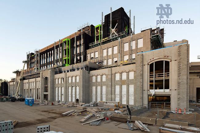 August 2, 2016; Duncan Student Center under construction (Photo by Matt Cashore/University of Notre Dame)