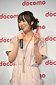 February 24, 2011 - Tokyo, Japan - Actress Aki Asakura holds up NTT Docomo's new smartphone model called the XPERIA during a press conference where NTT Docomo unveils three new smartphone models: the XPERIA, the Medias and the Optimus. (Photo by Koichi Mitsui/AFLO)