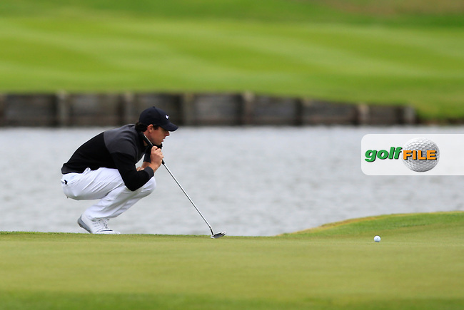 Rory McIlroy (NIR) on the 15th green during Round 4 of the 100th Open de France, played at Le Golf National, Guyancourt, Paris, France. 03/07/2016. <br /> Picture: Thos Caffrey | Golffile<br /> <br /> All photos usage must carry mandatory copyright credit   (&copy; Golffile | Thos Caffrey)