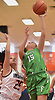 Kelly Bergersen #15 of Farmingdale, right, scores the opening basket early in the first quarter of a non-league girls basketball game against host Manhasset High School on Saturday, Dec. 8, 2018.