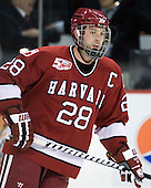 Chris Huxley (Harvard - 28) - The Boston University Terriers defeated the visiting Harvard University Crimson 5-2 on Saturday, January 15, 2011, at Agganis Arena in Boston, Massachusetts.