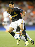 Valencia's Daniel Parejo (b) and AS Monaco FC's Fabinho during Champions League 2015/2016 Play-Offs 1st leg match. August  19,2015. (ALTERPHOTOS/Acero)