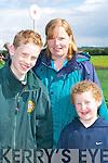HAVING FUN: Luke, Lucy and Brian Scollard,.Scartaglin, at Castleisland Races last Sunday.